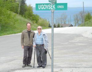 Andrew and Stan Ugovsek at Rockcliffe Estates on Georgian Bay