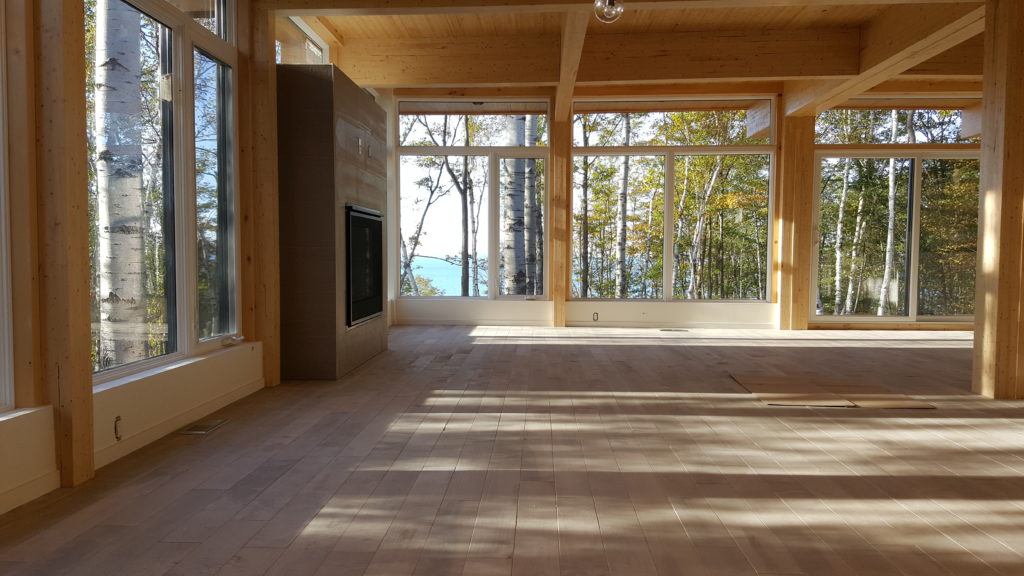 Living Room with Georgian Bay Water view